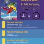 Affiche bourse aux vélos foire st michel