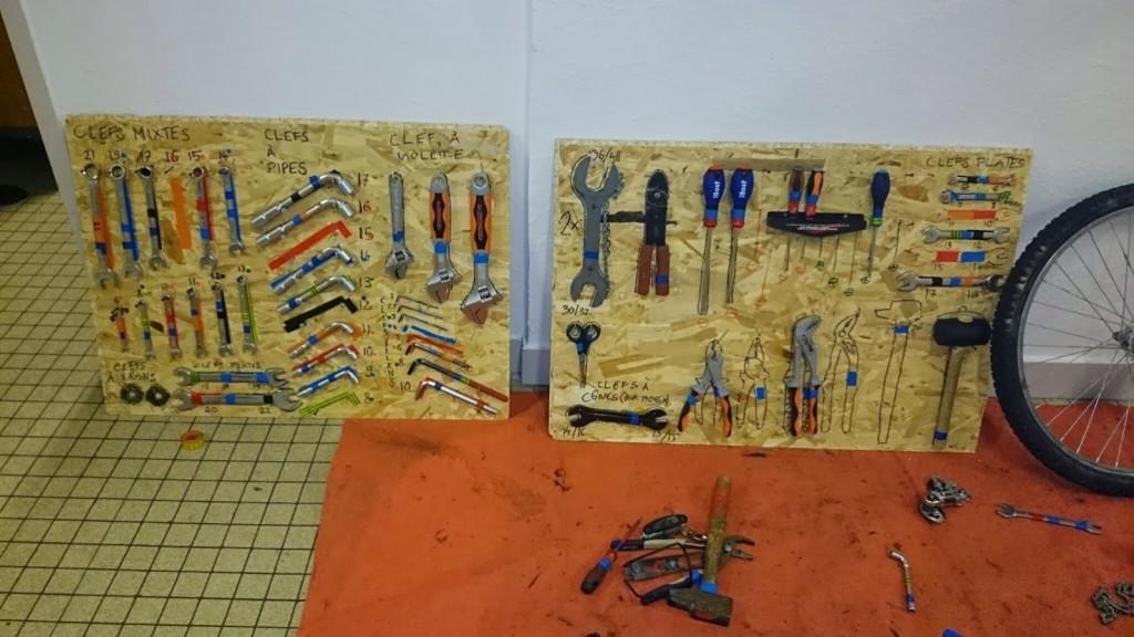 Atelier réparation - Établis à outil