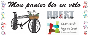 invitation vélo panier bio