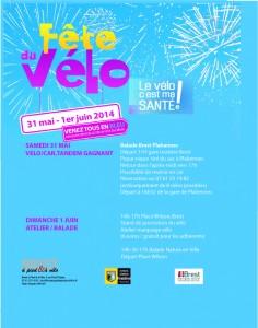 Affiche Fête du Vélo 2014
