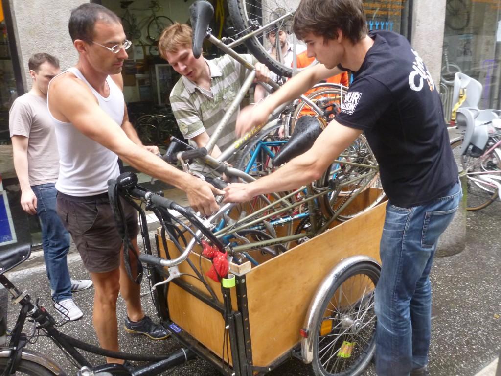 récupération de vélo aux recycleurs de Lyon