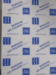 Respecter les cyclistes