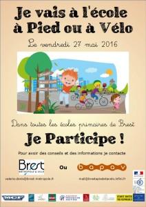 Affiche Journée Je vais à l'école à pied ou à vélo